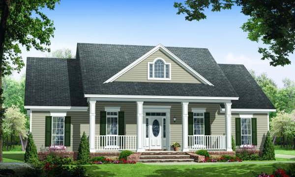Detached guest cottage or in law suite house plan hunters for Home plans with detached guest house