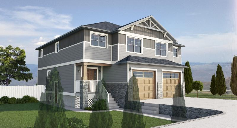 Featured Plan - Side By Side Craftsman Style Duplex With Option For Finished Basement - House Plan