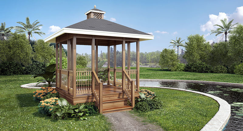 Featured Plan - Simply Fancy Gazebo - Project Plan