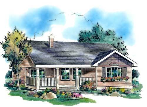Cozy cottage house plan hunters for Cozy cottage plans