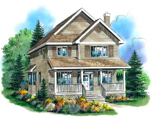 Old fashioned veranda house plan hunters for Old fashioned home plans
