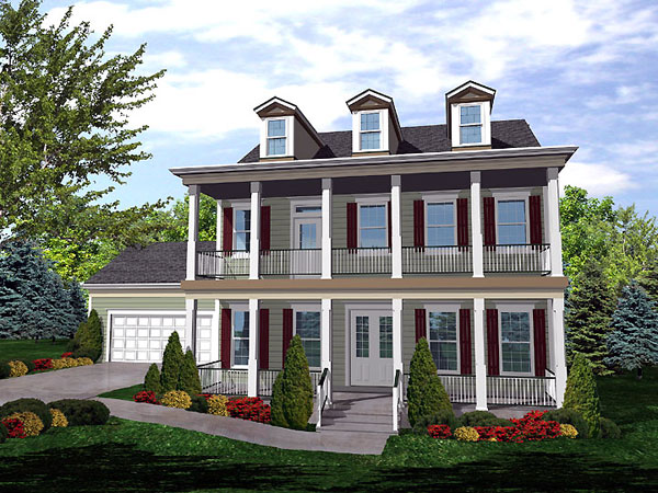 Second floor balcony house plan hunters for 2nd floor house design