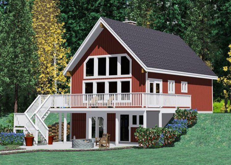 Plan No.228107 - An Overlooking Loft - House Plan