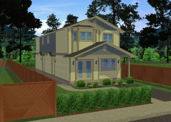 Very Narrow Lot Duplex House Plan Hunters