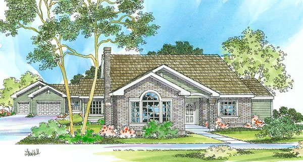 Detached guest cottage or in law suite house plan hunters for Home plans with detached in law suite