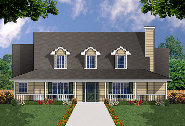 Fine country living house plan hunters for Country living house plans