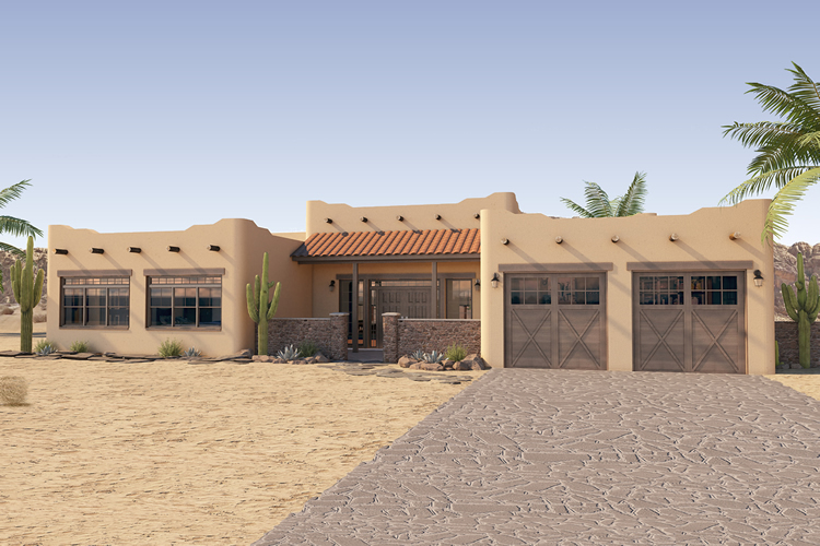 Inviting Adobe House Plan Hunters
