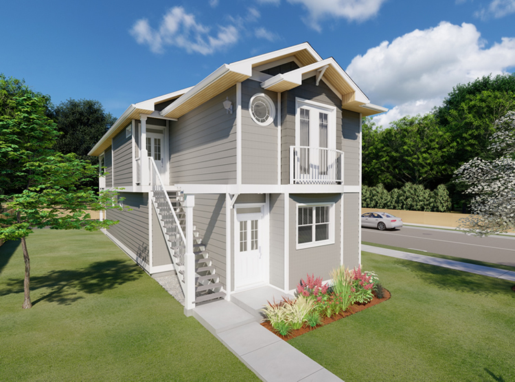 Narrow yet attractive duplex house plan hunters Narrow lot duplex