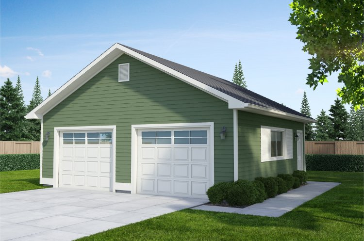 Awesome Two Door Garage #3: Garage Plans | Two Door Garage Plan