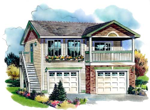 Plan No.136254 - Covered Deck - House Plan