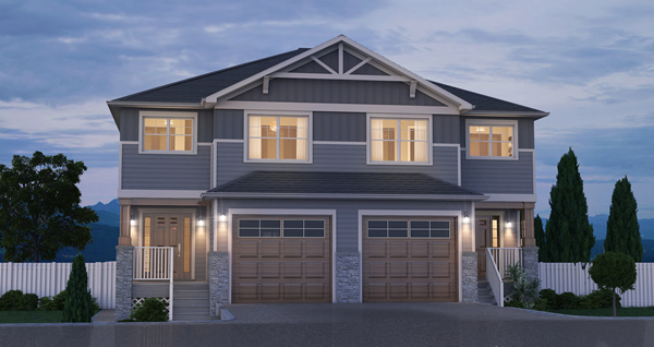 Side By Side Craftsman Style Duplex With Option For