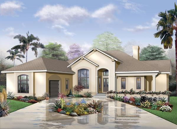 Spacious florida style home with walkout basement house for No basement house plans