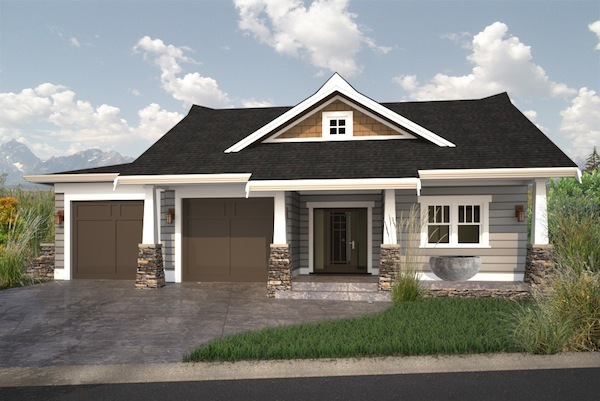 Cute walk out bungalow house plan hunters for Walkout home plans